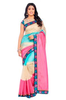 SILK SAREE WITH CONTRAST BOARDER