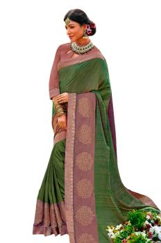 SOFT SILK SAREE WITH CONTRAST BOARDER