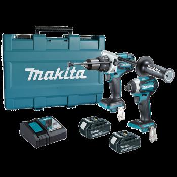 Makita Impact Driver & Hammer Dr Drill 18v [2pcs Kit]