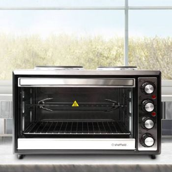 Sheffield 33L Mini Oven With Hot Plate - PLA1241S