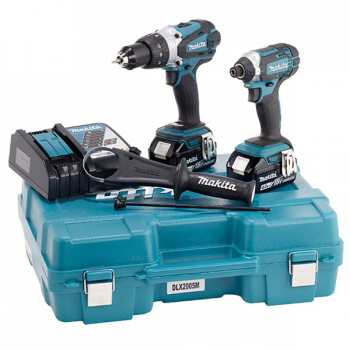 Makita Impact Driver and Drill 18v Cordless Dlx2005m/Dlx2145m/ Dlx2145t [2pcs Kit]