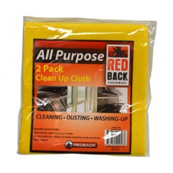 All Purpose Clean Up Cloth / 38 x 38cm (Pack of 2)