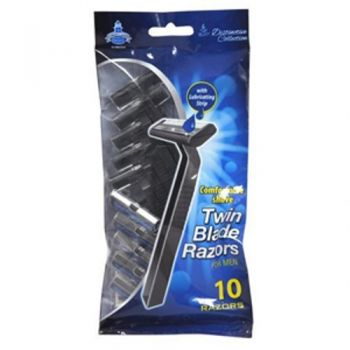 XtraCare Twin Blade Razors / Pack of 10 (For Men) With Lubricating Strip