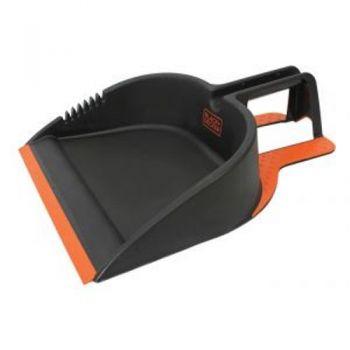 Black & Decker Step-On-It Dust Pan / 45 x 30cm (Patented Foothold Design) Teeth Keep Bristles Clean