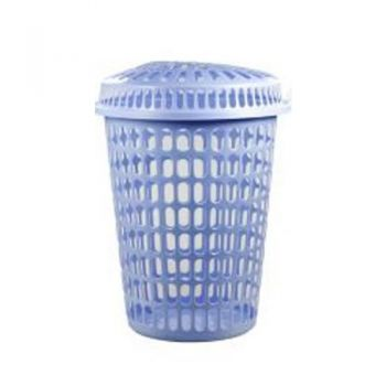 Laundry Basket With Lid / 45 x 56cm (2 Assorted Colours) Plastic