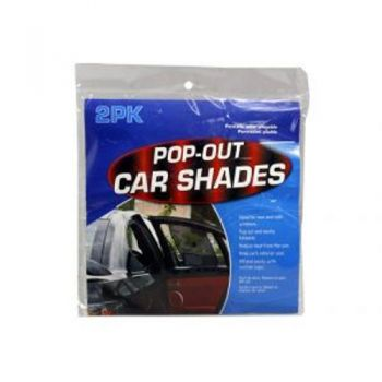 Pop Out Sunshield Shade 2pc Pack / Pack of 2 (Reduces Heat From The Sun, Affixed Easily With Suction Caps & Foldable For Easy Storage)