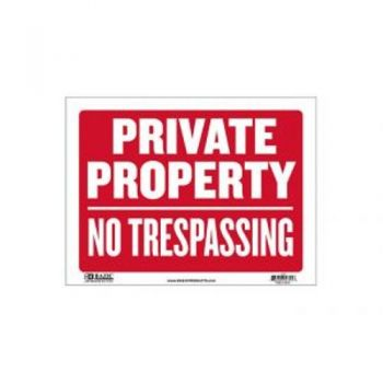 Sign - Large Size / 30.5 x 40.5cm (Private Property No Trespassing)