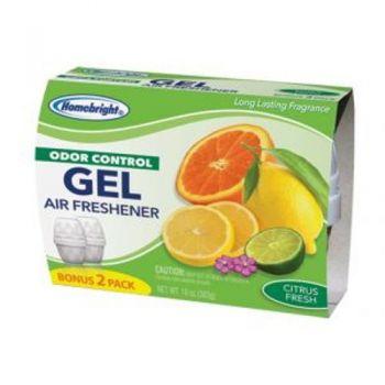 HomeBright Odor Control Gel Air Freshener - Citrus Fresh / 283g (Pack of 2)