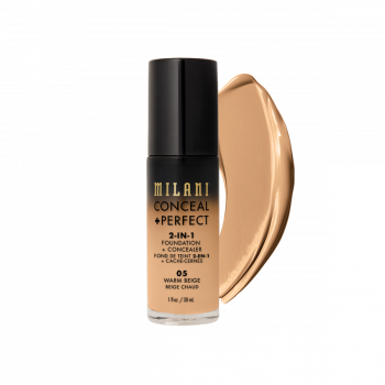 MILANI- 2-IN-1 FOUNDATION+CONCEALER-WARM BGE