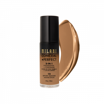 MILANI- 2-IN-1 FOUNDATION+CONCEALER-SPICED ALMOND