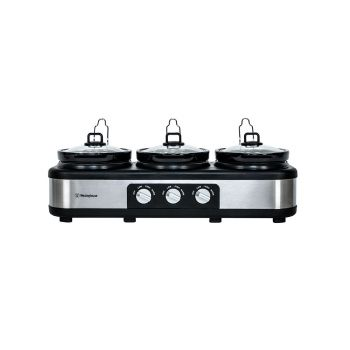 Westinghouse - 3 X 2.5L Pot Slow Cooker SS - WHSC03SS