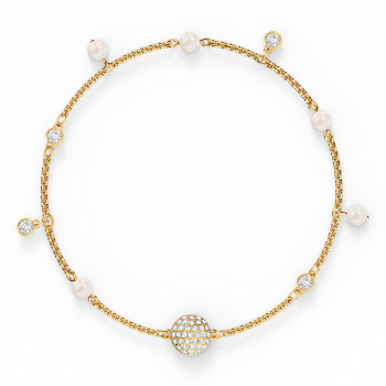 Swarovski Remix Collection Delicate Pearl Strand - Gold Tone Plated