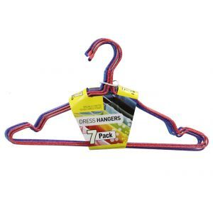 Dress Hanger / Pack of 7 (Multi-Coloured Pack) Coated Wire Hangers