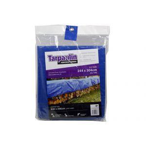 Tarpaulin - Corners Reinforced / 244 x 304cm (Cut Size) 236 x 296cm (Finished Size)