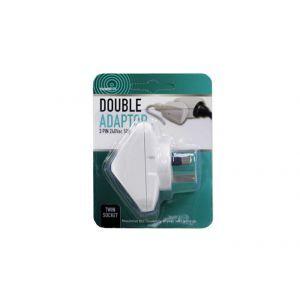 Double Adaptor - Angled / 3 Pin 240V 50Hz (Model: UCA304A) Twin Socket