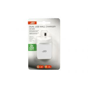 J2D Dual USB High Speed Wall Charger / 8cm (2 USB Ports) Assorted Colours