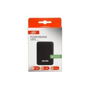 J2D Dual USB Power Bank / 12 x 9cm (10000mAh)