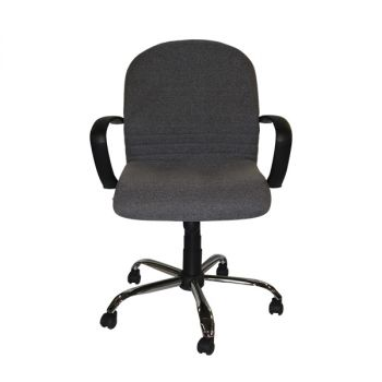 GDS LOW BACK CHAIR CHROME BASE  SILVER BLACK #GOEXE-0113