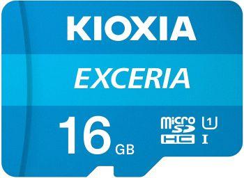 Kioxia 16GB microSD Exceria Flash Memory Card w/Adapter U1 R100 C10 Full HD High Read Speed 100MB/s