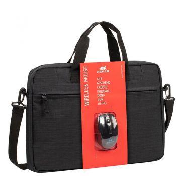 Rivacase black Laptop bag 15.6