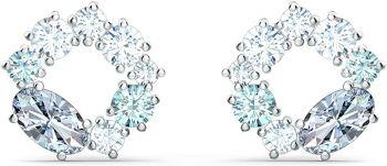 Swarovski Attract Circle Stud Pierced Earrings
