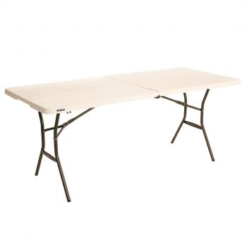 Lifetime 6FT Bi-Fold Blow Mould Trestle Adjustable Table