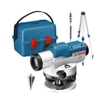 Bosch GOL 26 D Professional Optical Level With Building BT 160 Tripod Including GR 500 Levelling Rod