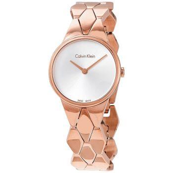 Calvin Klein Snake Quartz Silver Dial Ladies Watch