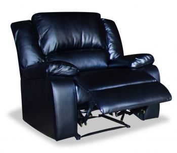 Canterbury - Black Leather-aire Single Recliner Chair