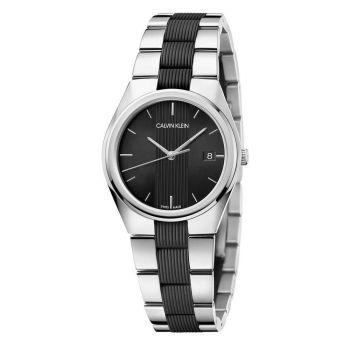 Calvin Klein Contra Quartz Black Dial Ladies Watch