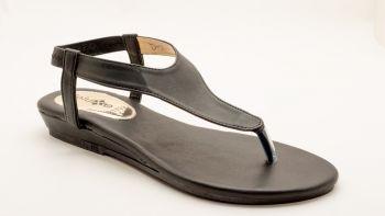 D7 - Deluxe Black Strap Sandal