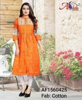 Ashda Kurti- Orange - xxl