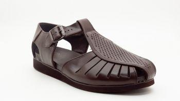 CB2 - Cebo Sandal - Back Close - Brown