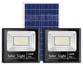 200W dual head solar floodlight