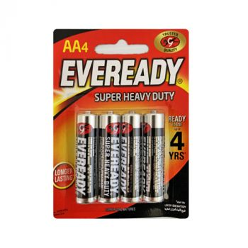 Eveready Super Heavy Duty AA 4's Card