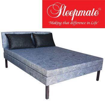 Sleepmate Foam Divan Set - Double (Free 2 x Regular Pillow)