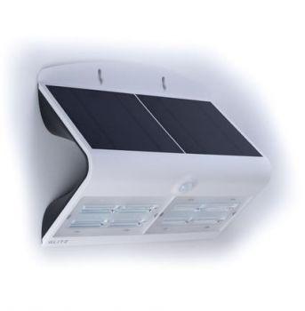 Glitz Velocity Solar LED Wall Light With PIR Sensor 800 (White)