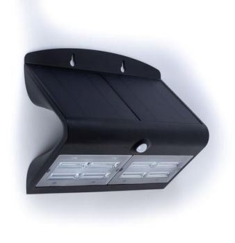 Glitz Velocity Solar LED Wall Light With PIR Sensor 800 (Black)