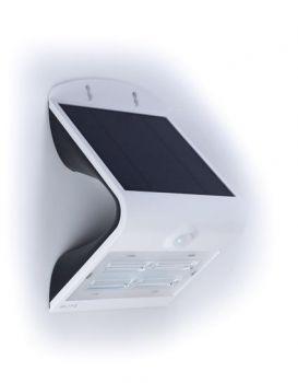 Glitz Velocity Solar LED Wall Light With PIR Sensor 400 (White)
