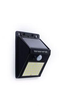 Glitz LED Pyramid Solar Wall Light With PIR Motion Sensor