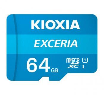 KIOXIA Exceria U1 UHS-I 100MB/s Read Flash Memory Card 64 GB Micro SD