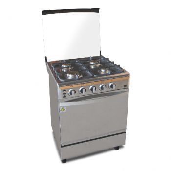 Kitchenmate 4 Burner Gas Stove with Oven & Rotisserie Function - 60 x 60cm - XD600BS