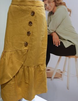 FA002008-KS Button Front Skirt