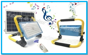 Solar Floodlight with Bluetooth Speaker