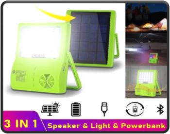 solar light with Bluetooth speaker
