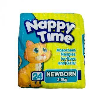 Nappy Time Diaper Newborn 2-5kg 24's (183021)