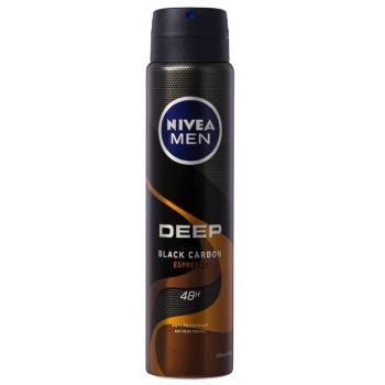 Nivea Men Deep Black Carbon Espresso Deodorant Spray 250 ml