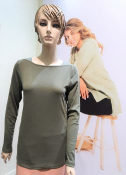 FA001042-RK Boat Neck Tees-Long Sleeve-Assorted