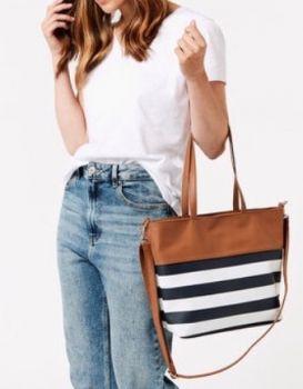 FA007004-STRIPE HAND BAG
