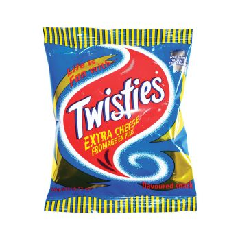 Twisties Extra Cheese Flavoured Snack 20g